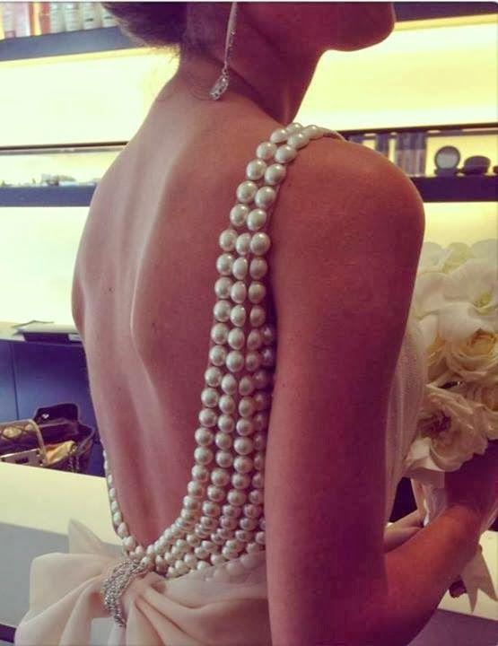 Flat Back Pearl Embellished Gown DIY