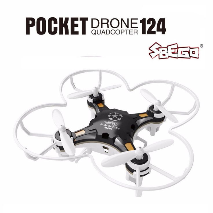 124 Mini Quadcopter Micro Pocket Drone 4CH 6Axis Gyro Switchable Controller