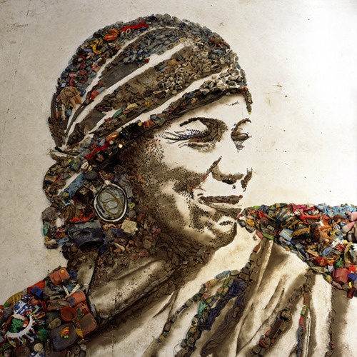 "Vik Muniz trash art (watch documentary ""Wasteland"" for more about this and other works by him)"