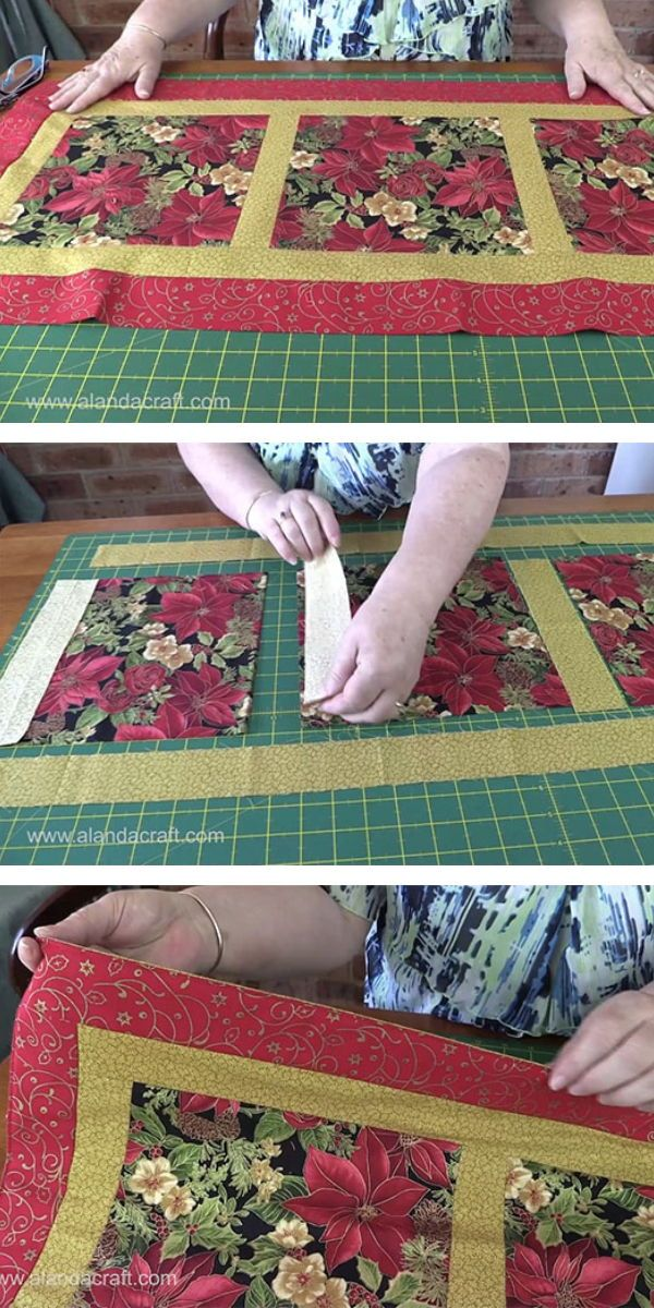 easy quilted christmas table runner a nice and easy table runner pattern to make full step by step tutorial video and written