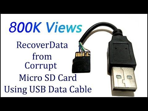 Datenwiederherstellung Sd Karte.Recover Data From Sd Card Using Usb Data Cable Memory Card