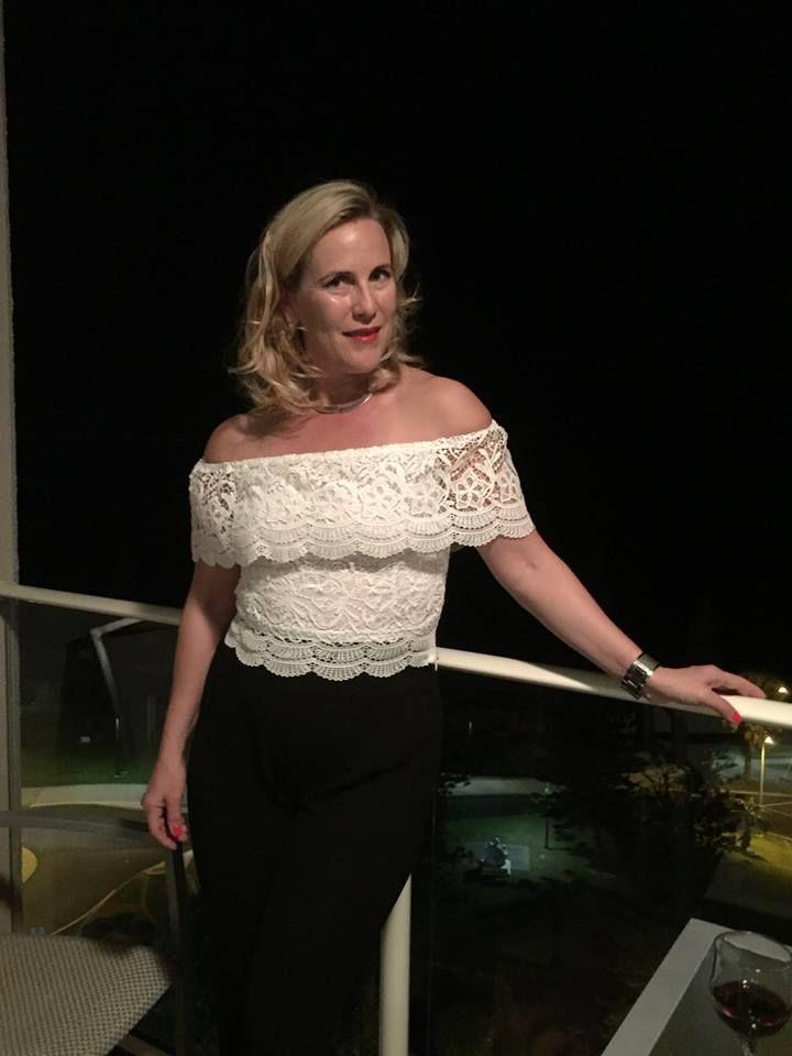 Beautiful and classy Marika Lang wearing our 'Laura Lace Top' and 'Olga Ponte Pants' | Scandinavian Style | #marikalang #australia