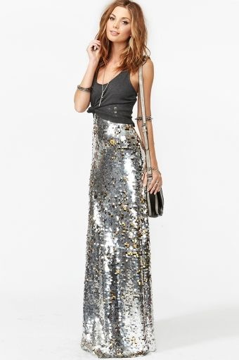 Gina Sequin Maxi Skirt // Sold out, but if anyone could find me this exact skirt in a small or medium, I would be eternally grateful.