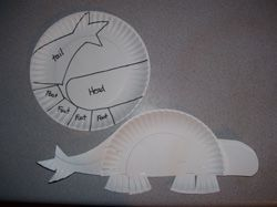 Ankylosaurus made from a paper plate created by Making Learning Fun.