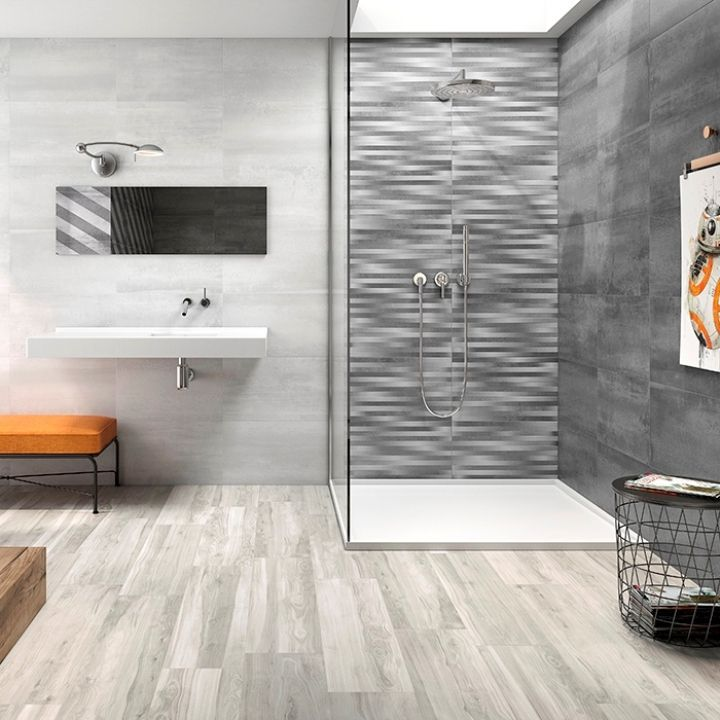 These Large Grey Wall Tiles Are Perfect For Anyone Desiring Plain Grey Bathroom Tiles Or A