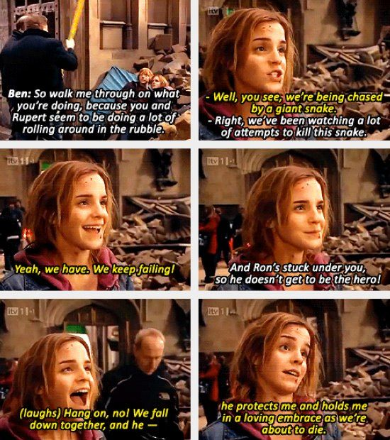 Emma Watson can be quite funny