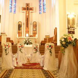 florystyka ślubna - dekoracje kościołów - kwiaty sztuczne