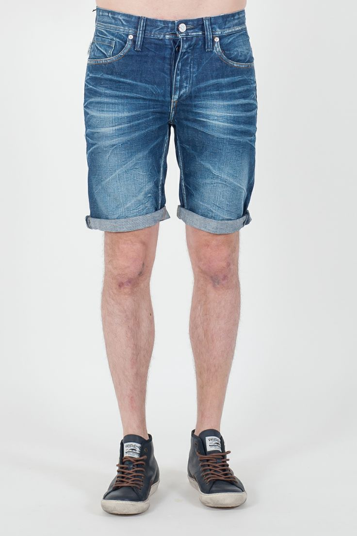 #Bermuda da #uomo Originals by #Jack&Jones  - Bermuda Denim con rovescia - Regular fit - Lavaggio Medium blu Denim - Lavare a 40°C