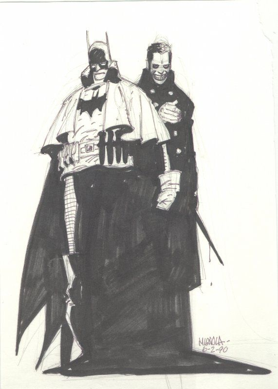 Batman and the Joker from Gotham by Gaslight by Mike Mignola