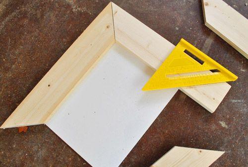 YHL Making simple scrap wood picture frames diy
