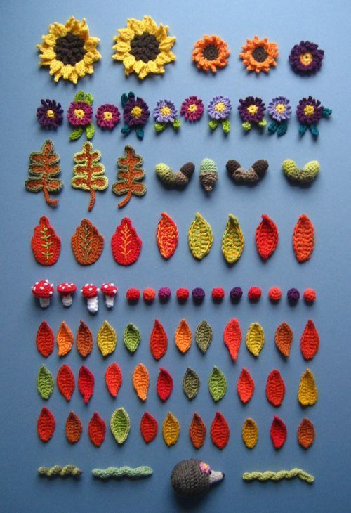 Inspiring blog post about crocheting an autumnal wreath. Watch the whole thing in progress (makes me want to go out and buy more yarn!!!)