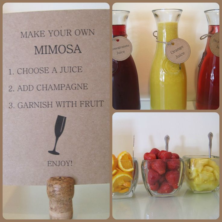 mimosa bridal shower themes | then directed to the mimosa bar yes i just said that mimosa bar