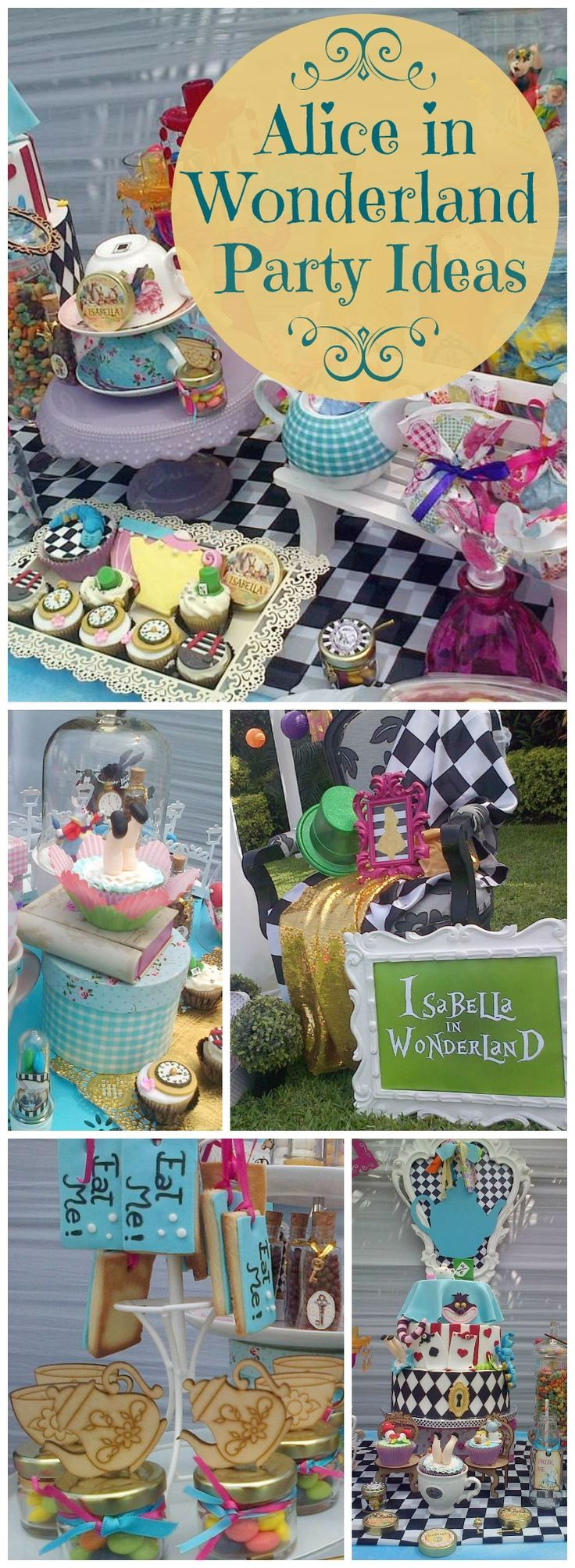 You need to see this amazing Alice in Wonderland party! See more party ideas at CatchMyParty.com!