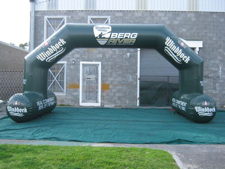 Mitre Elite Infltable arch with legs.