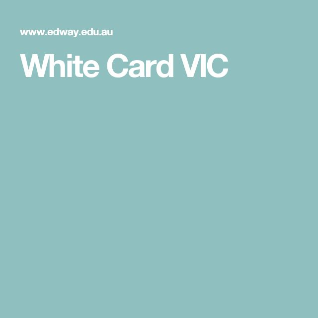 White Card Melbourne - current courses available in and around the Melbourne area