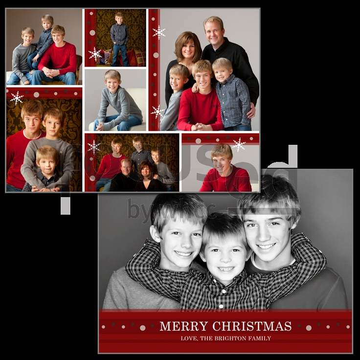 5 Family Christmas Card Poses