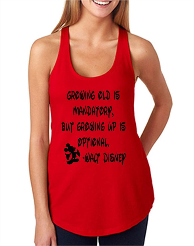 "Thank you for stopping by my shop! I am excited to have you here! Disney Addicts this top is for you!! My ""Walt Disney Quote"" is perfect for your Disney vacation! ***This listing is for the tank top o"