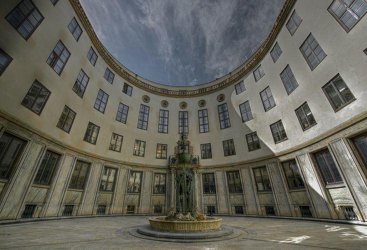 The Matchstick Palace (Swedish:Tändstickspalatset,) architect, IVAR TENGBOM, Västra Trädgårdsgatan in central Stockholm, Sweden