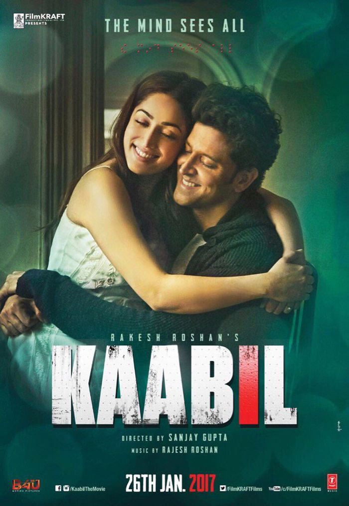 Kaabil Poster - Hrithik Roshan, Yami Gautam