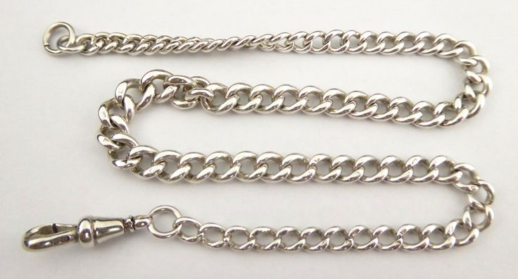 Antique Graduating Sterling Silver Pocket Watch Fob Chain - The Collectors Bag