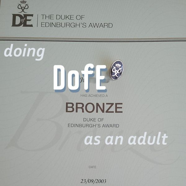 Something very exciting happened two weeks ago. My Bronze DofE badge and certificate arrived in the post! For anyone who hasn't encountered DofE, it's the Duke of Edinburgh's Award, done in three levels (Bronze, Silver & Gold) and stereotypically involves two to five days of walking in the rain over inhospitable territory like Dartmoor. The… More DofE – as an adult!