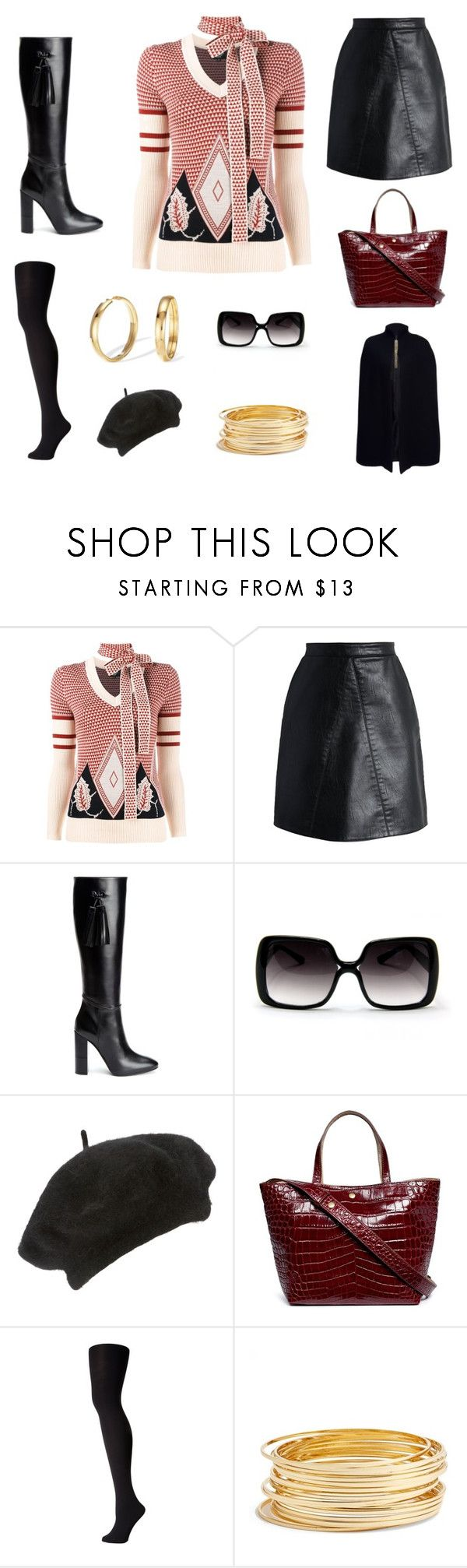 """""""shopping trip"""" by edith-a-giles ❤ liked on Polyvore featuring Creatures of the Wind, Chicwish, Aquatalia by Marvin K., John Lewis, Elizabeth and James, Falke, Argento Vivo and Lanvin"""