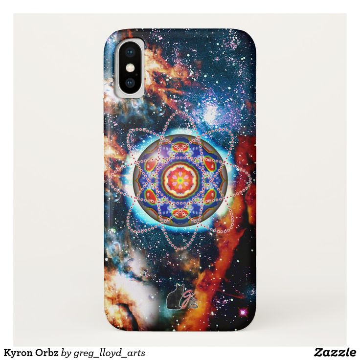 Kyron Orbz iPhone X Case. This case features a view into an alternate dimension. A kaleidoscopic orb surrounded by energy streams and manifestations of psychic power. This concentrated sphere is seething with unleashed potential. A word of caution, others not schooled in the power of this image may be transformed by an unexpected epiphany. Over 3000 products at my Zazzle online store. Open 24/7 World wide! This art is exclusively…