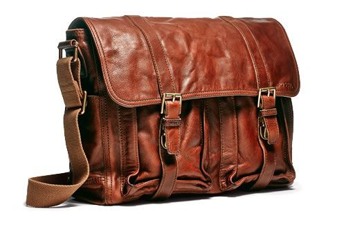 Keep organized with our men's brown leather messenger bag