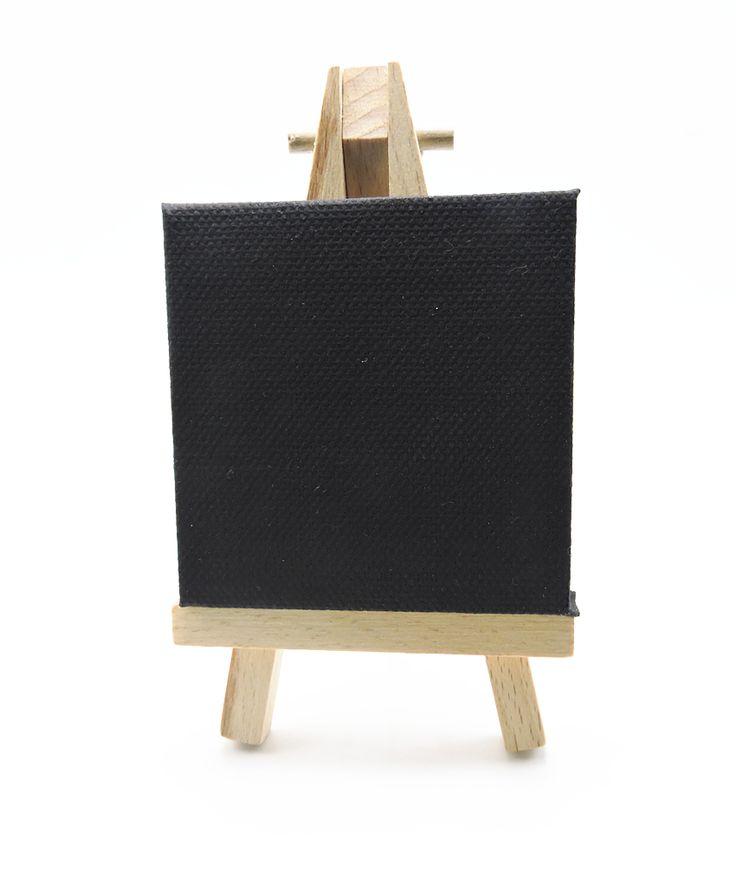2016 новый мини холст мольберт комплект черный холст Paianting художественные принадлежности дома деко станковая живопись ремесла подарок 2.75 дюймов холст купить на AliExpress