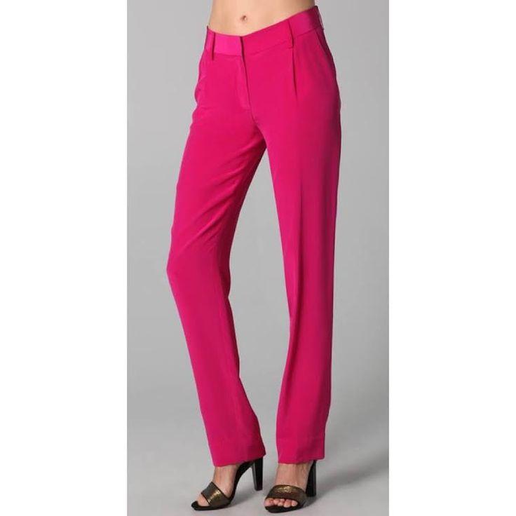 Diane Von Furstenberg Hot Pink Trousers (4)