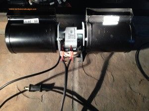 How to install a gas fireplace air blower kit!