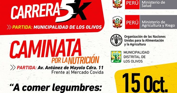 Evento: Carrera 5K - Caminata Por La Nutrición 2016 - Los Olivos  En esta oportunidad compartimos en el blog de César Hinojos Quiroz un e...