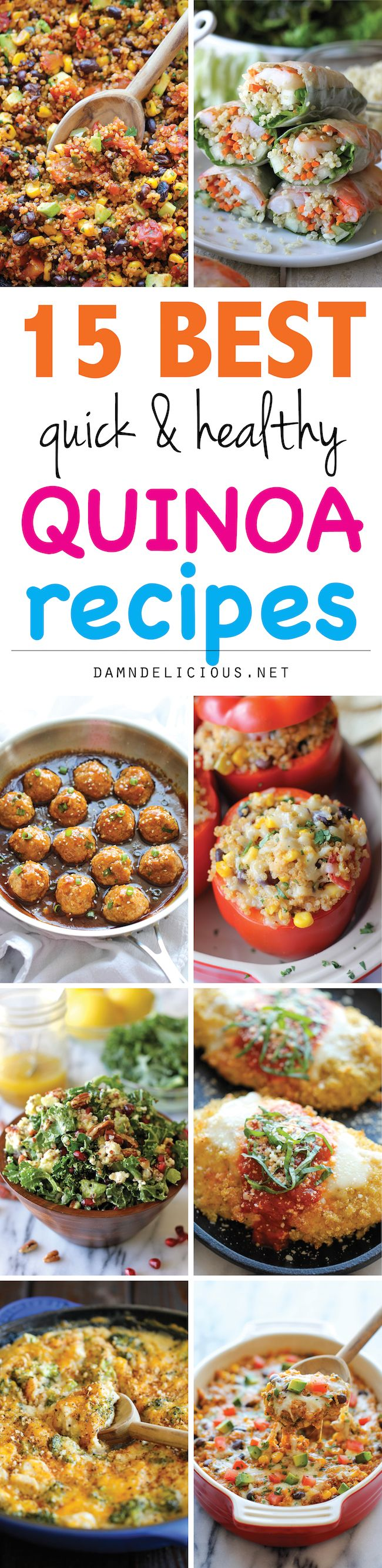 """15 Best Quick and Healthy Quinoa Recipes - So easy, nutritious and hearty. Best of all, they don't even taste """"healthy""""!"""