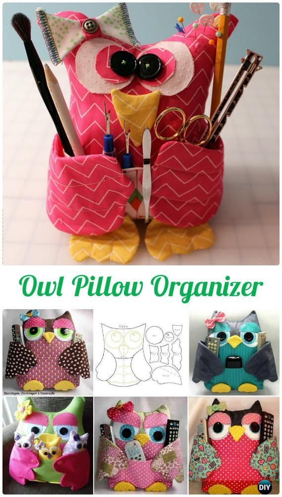 DIY Remoter Cuddy Owl Pillow Free Template Instructions-DIY #Sew Owl #Craft Projects