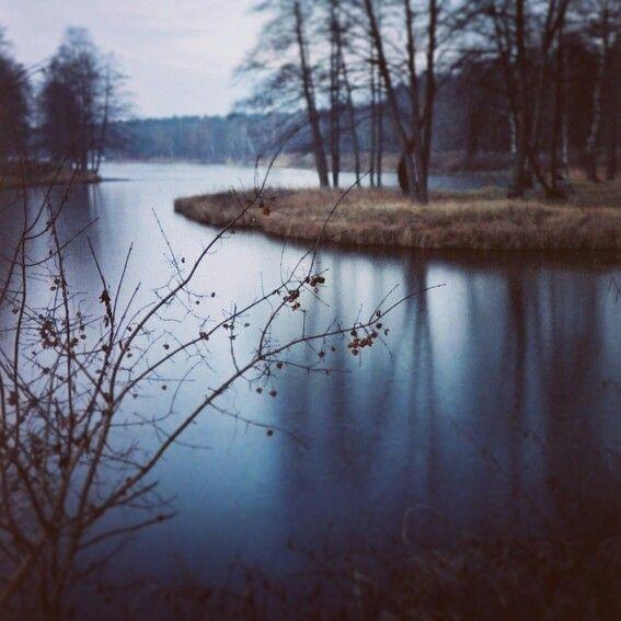 Lovely lake in Piaseczno, Poland