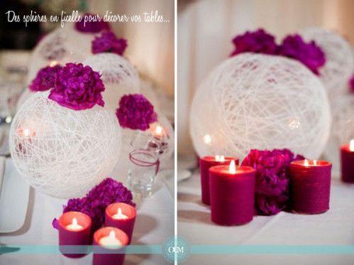 Bonjour à tous, Encore un article sur du DIY , tiré du site http://www.organiser-un-mariage.com. Je trouve ça vraiment très astucieux, et économique : Après les pompons, les drapées en tissu , les faire-parts coeur en origami, voici une nouvelle idée...