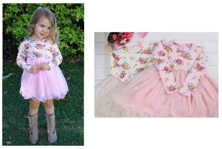 Long Sleeve Mia Dress - soft soft tutu - perfect for the cool days and very pretty. $25 https://www.facebook.com/LuluLovesLace