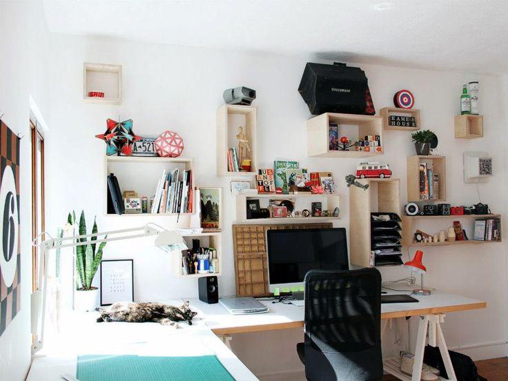 My own little museum shop ish desk stoffel van den bergh for At home graphic design