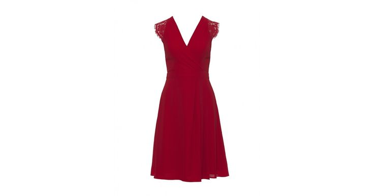 Review Australia | Nori Fit & Flare Dress in Red Red