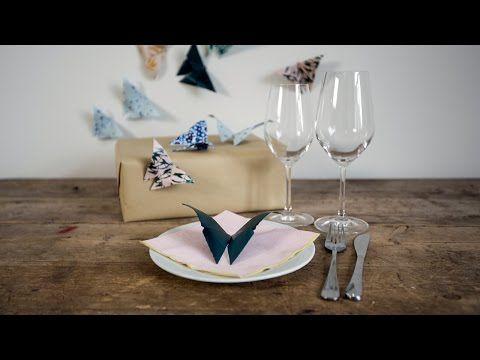 DIY: How to make origami butterflies by Søstrene Grene - YouTube