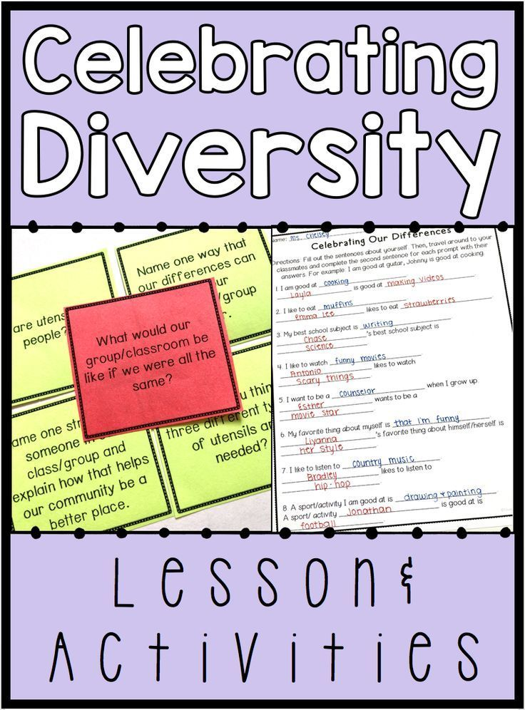 Diversity Activities and Lesson | Back To School Activities