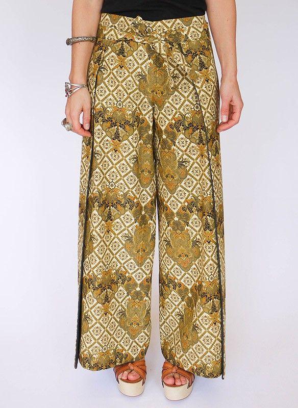Vintage Batik wikkelbroek @ www.secondhandnew.nl