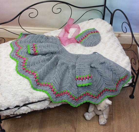 Instant Download Crochet Pattern for Baby Matinee Jacket & Hat in 2 sizes DIGITAL DOWNLOAD 284