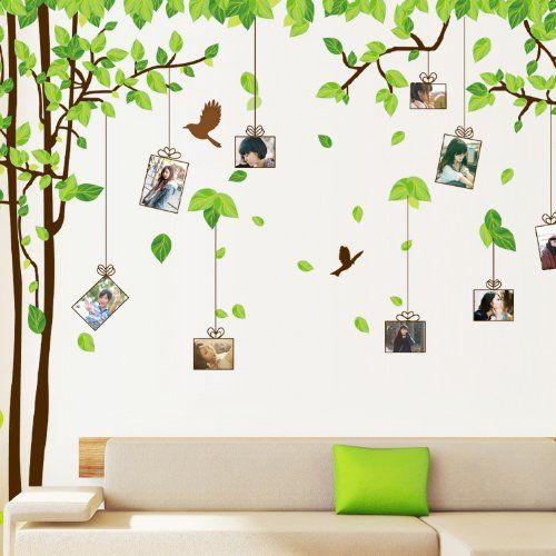 UfingoDecor Grande Albero Picture Photo Frame Adesivi Murali, Camera da Letto Soggiorno Adesivi da Parete Removibili/Stickers Murali/Decorazione Murale, Set di 2 Fogli UfingoDecor http://www.amazon.it/dp/B00J56YDVM/ref=cm_sw_r_pi_dp_7hGAub1CB99N1