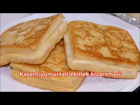 Kahvaltıya lezzeti harika ve yapımı aşırı kolay kaşarlı yumurtalı ekmek kızartması - YouTube
