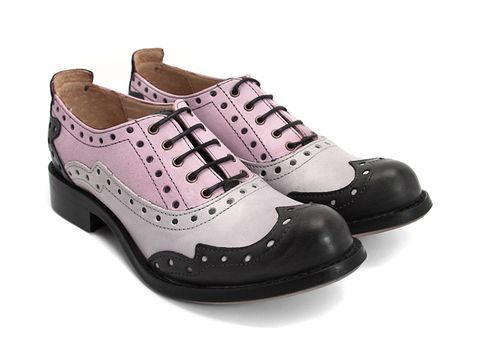 OMFG NEED THESE.  Fluevog Shoes  Adrians | Amanda  [Black, Grey & Purple]  $239 (ouch!)