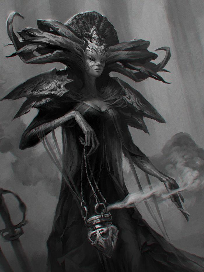 Посмотреть иллюстрацию Валерия Железовская - Жрица. концепт персонаж
