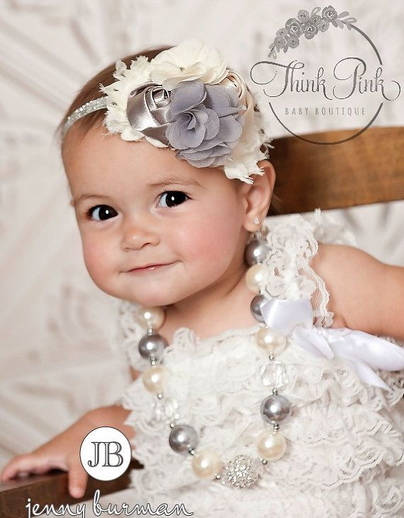 JOIN OUR FB PAGE FOR WEEKLY GIVEAWAYS, COUPONS AND SPECIAL OFFERS!  http://www.facebook.com/ThinkPinkBows  visit our shop for many more beautiful sets!  https://www.etsy.com/shop/ThinkPinkBows?section_id=12056194&ref=shopsection_leftnav_8  Headband and Necklace SET  One of the hottest fashion for little girls!  Chunky bead necklaces are all the rage and the newest photo prop for all girls- big & small!A great accent for any outfitThese look great for photos, a special holiday, everyday and…
