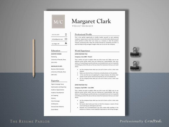 Awesome DIY Resume Template Idea for Personal Use