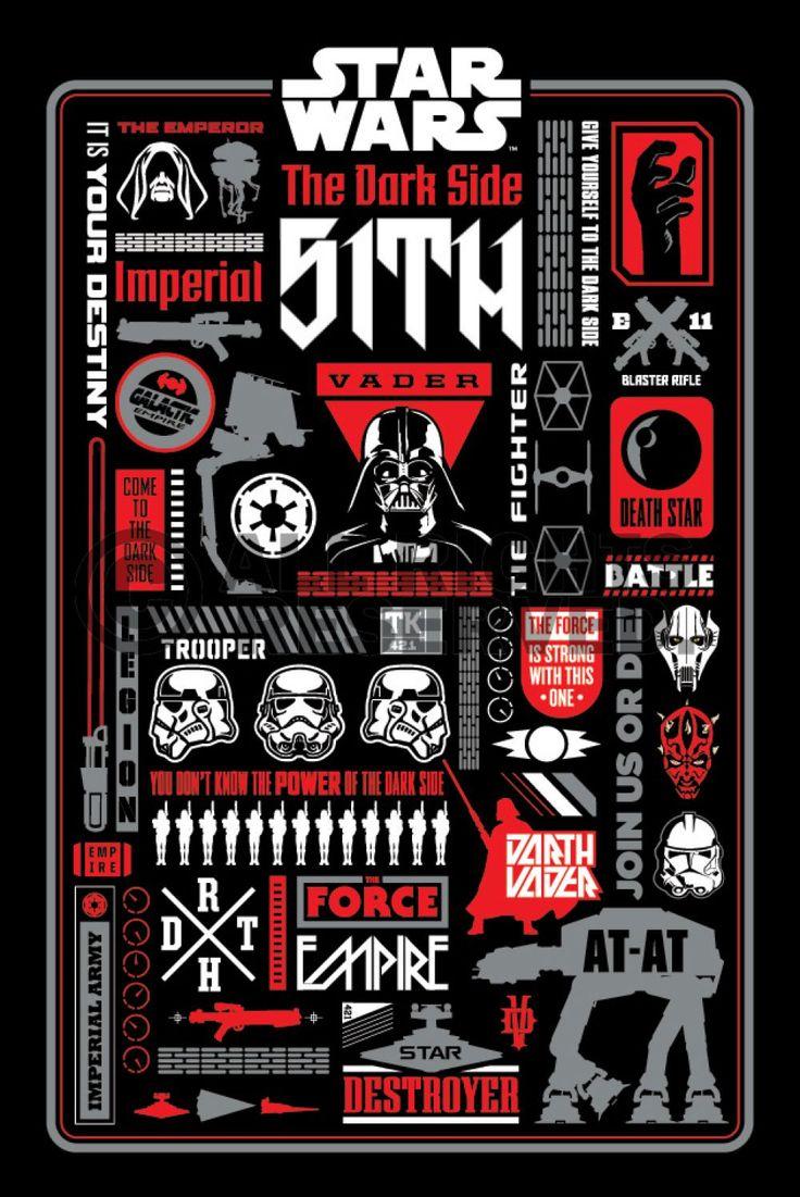 3d poster design online - Poster Star Wars Dark Side Icongraphic Zum Verkauf Online Bestellen Sie Ihre Poster